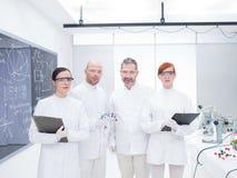 Onderzoekersteam in laboratorium Stock Afbeeldingen