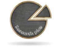 Onderzoekplan en het bord van de cirkeldiagramvorm Royalty-vrije Stock Fotografie