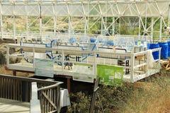 Onderzoekpost binnen Biosfeer 2 in Tucson Arizona stock foto