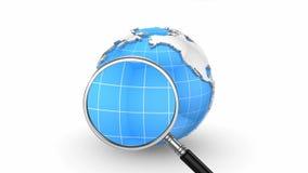 Onderzoeksmensen in sociale netwerken stock illustratie
