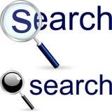 Onderzoekspictogram. Stock Afbeelding