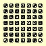 Onderzoekspictogrammen royalty-vrije stock fotografie