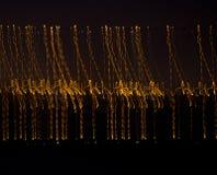 Ondes abstraites d'or Photos libres de droits