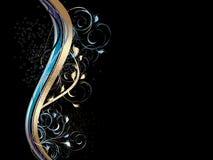 ondes abstraites d'ornement floral Photos libres de droits