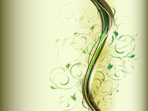 ondes abstraites d'ornement floral Image stock