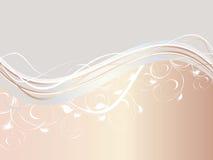 ondes abstraites d'ornement floral Image libre de droits