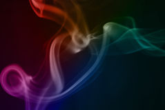 Ondes abstraites de fumée images libres de droits