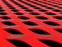 Ondes abstraites de rouge illustration de vecteur