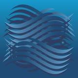 Ondes bleues Image libre de droits