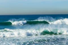 ondes bleues Photos libres de droits