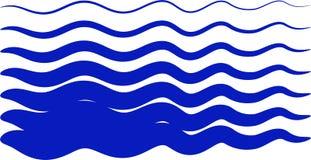 ondes bleues illustration stock