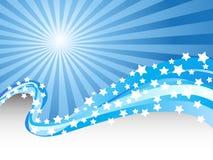 Ondes bleues de couleur Images libres de droits