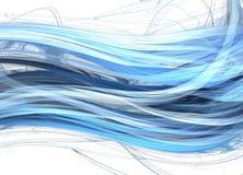 Ondes bleues de marine Images stock
