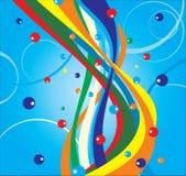 Ondes colorées. illustration de vecteur