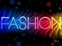 Ondes colorées abstraites de mode Photos libres de droits