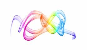 Ondes colorées de lumière Photos libres de droits