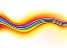 ondes d'arc-en-ciel de fond Photos libres de droits