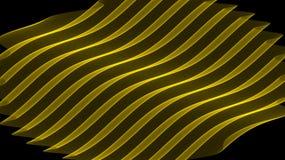ondes d'or de fond photo stock