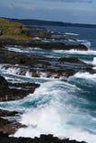 ondes de broyage de phillip d'île Photo libre de droits