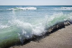 Ondes de la Mer Noire Photos libres de droits