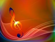 Ondes de la musique Image libre de droits