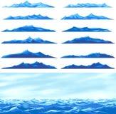 ondes de mer Image libre de droits