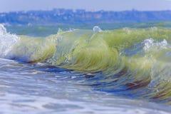 Ondes de mer Mer arrière, Crimée Photographie stock libre de droits