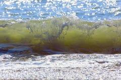 Ondes de mer Mer arrière, Crimée Photo libre de droits