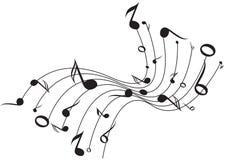 ondes de musique Photo libre de droits