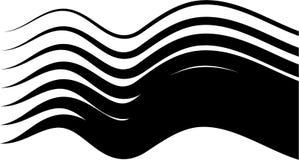 ondes de noir illustration stock