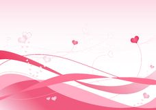 Ondes de rose Illustration Stock