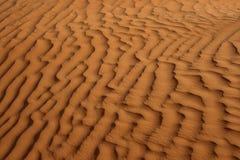 Ondes de sable rouges Photographie stock