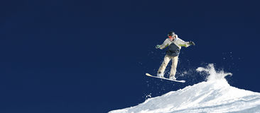 Ondes de Snowboarder Photos stock