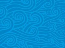 ondes de vecteur d'océan Images stock