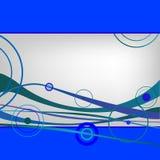 Ondes et cercles de bleu Illustration de Vecteur