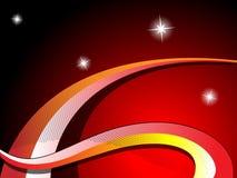 Ondes et fond d'étoiles Images libres de droits