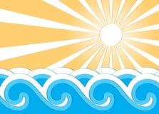 Ondes et soleil Image stock