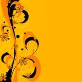 Ondes florales de vecteur Images libres de droits