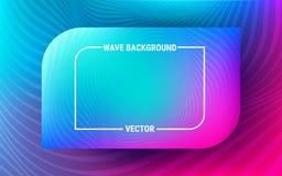 Ondes fumeuses bleues Modèle bleu et ultra-violet Mouvement dynamique des formes géométriques Gradient vibrant illustration de vecteur