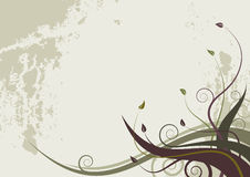 ondes grunges florales de type de fond abstrait Images libres de droits