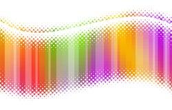 Ondes multicolores tramées abstraites Image libre de droits