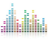 Ondes musicales illustration stock