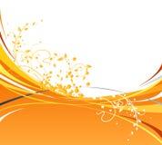 Ondes oranges Images libres de droits