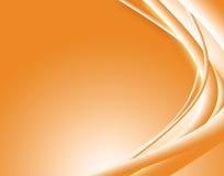 Ondes oranges d'abstrait. illustration libre de droits