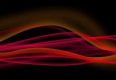 Ondes rouges d'énergie Image libre de droits