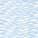 Ondes sans joint de configuration Peinture d'aquarelle Thème de mer Photos stock