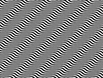 Ondes sinusoïdales horizontales noires et blanches d'art op Photos stock