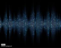 Ondes sonores Égaliseur de Digital de musique Fond futuriste clair abstrait Photographie stock