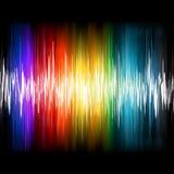Ondes sonores abstraites de palonnier. ENV 8 illustration de vecteur