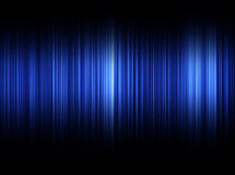 Ondes sonores bleues Photo stock